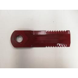 1994760 C4R Nůž drtiče REKORD 50x175x4,5, díra 20 mm, RASSPE /REKORD 44000/ ozubený//51010 RASSPE
